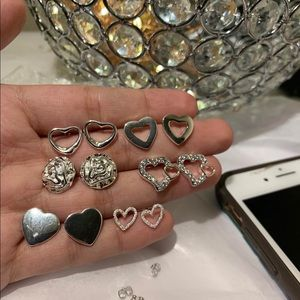 Lot of 6 pairs silver earrings